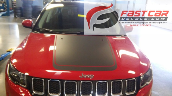 BEARING HOOD Stripes for 2017-2018 Jeep Compass
