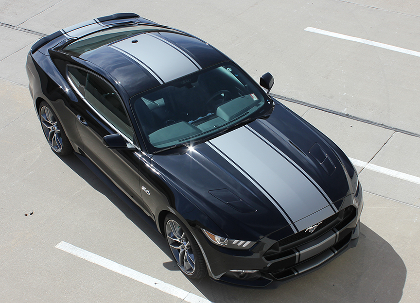 CONTENDER Vinyl Graphics fit 2015-2018 Ford Mustang