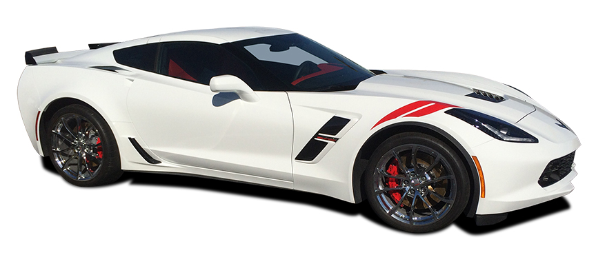 HASHMARK stripe decals fit 2014-2018 Chevy Corvette C7