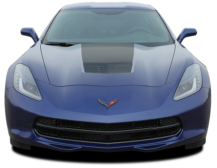 Corvette C7 Hoodf Stripe Decals for 2014-2018 Chevy Corvette