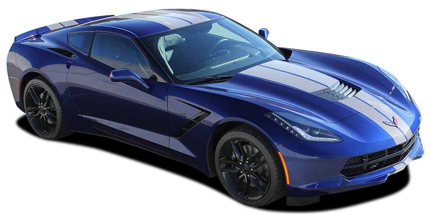 Corvette Rally stripe decals fit 2014-2018 Chevy Corvette C7