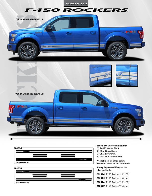 Ford Service Decals : Ford truck vinyl graphics decals f stripes