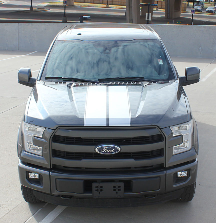 F RALLY Stripe Vinyl Decals fot 2015-2018 Ford Trucks