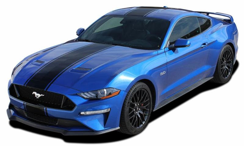 HYPER RALLY Racin Stripes for 2018+ Ford Mustang
