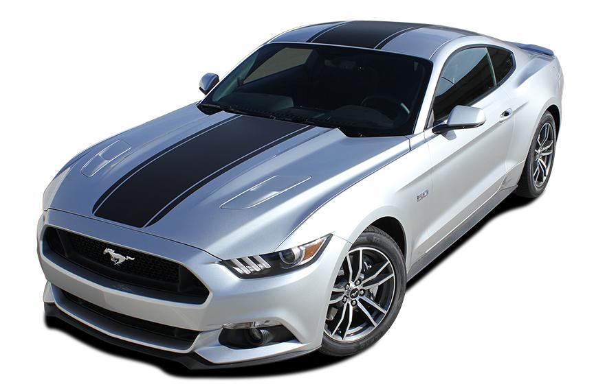MEDIAN Stripe Vinyl Graphics fit 2015-2018 Ford Mustang