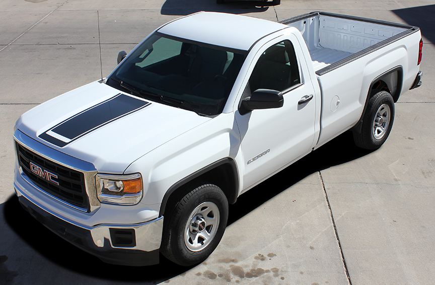 MIDWAY Vinyl stripe graphics fit 2014-2018 GMC Sierra