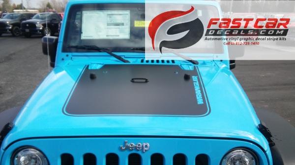 OUTFITTER HOOD Stripe fpr 2008-2018 Jeep Wrangler