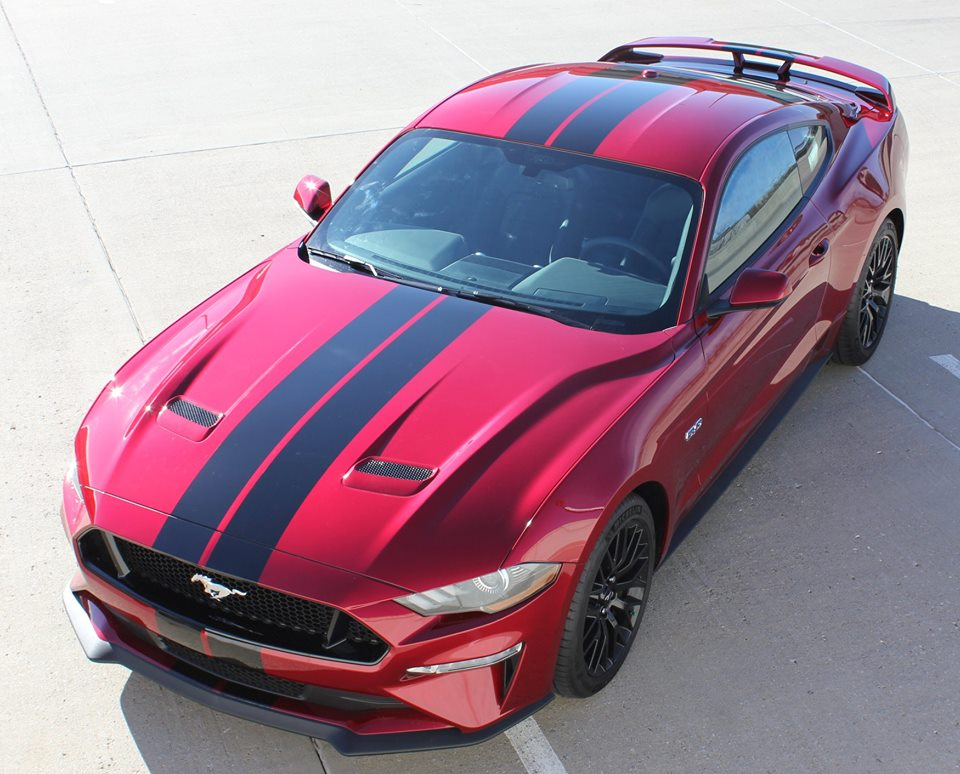 STAGE RALLY Racing Stripes for 2018+ Ford Mustang