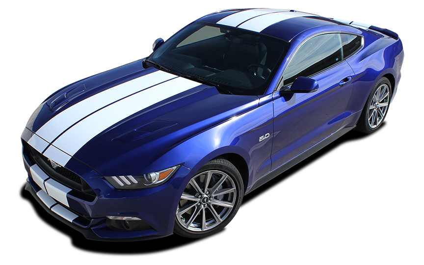 Stallion Vinyl Stripe graphics 3M 2015-2018 Ford Mustang