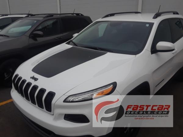 T HAWK HOOD Stripe for 2014-2018 Jeep Cherokee