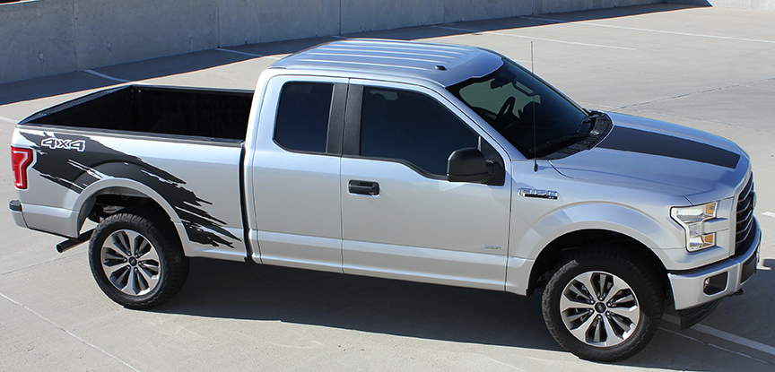 TORN Side Vinyl Graphics for 2015-2018 Ford Truck